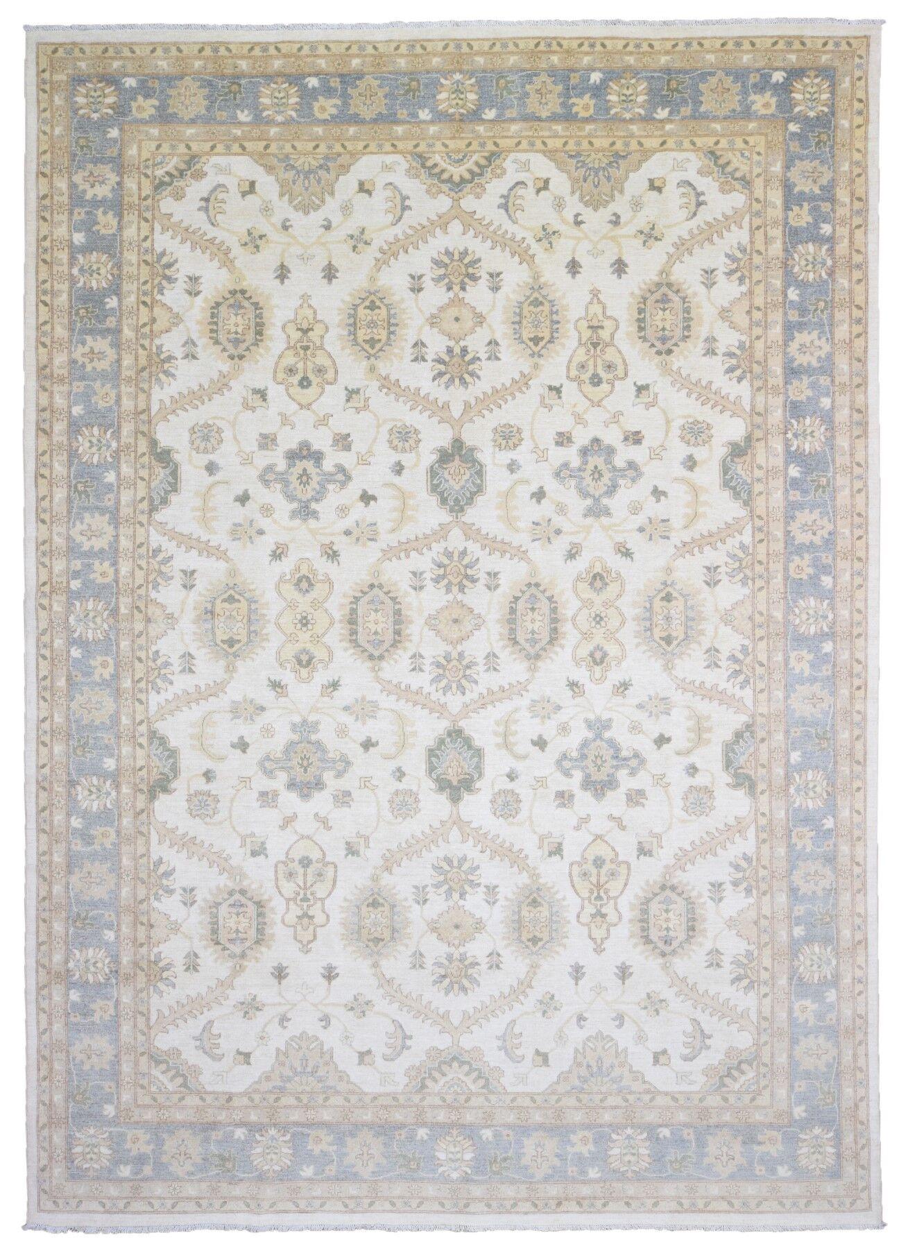 One-of-a-Kind Maribel Oriental Hand Woven Wool Beige/Blue Area Rug