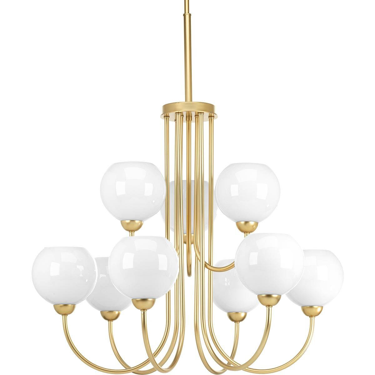 Jaina 9-Light Shaded Chandelier Finish: Vintage Gold