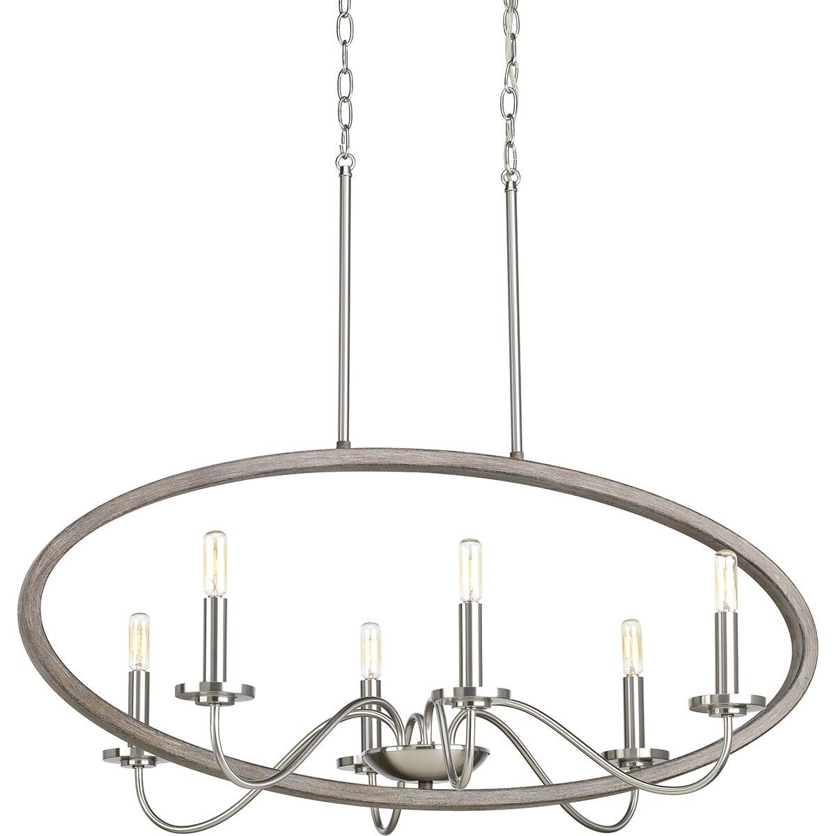 Maez 6-Light Chandelier Finish: Brushed Nickel