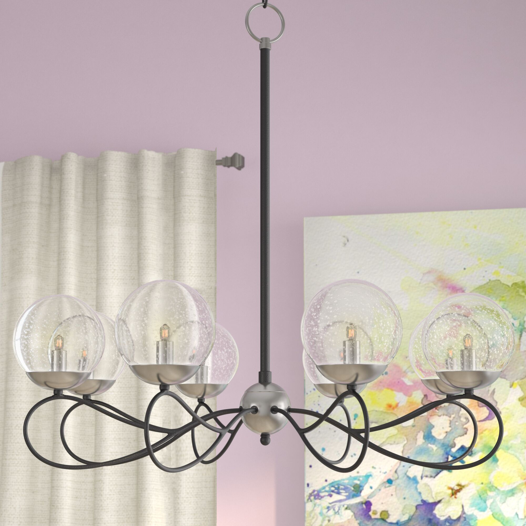Causeway 8-Light Sputnik Chandelier Bulb Type: G9 Clear Xenon, Finish: Textured Bronze/Satin Brass