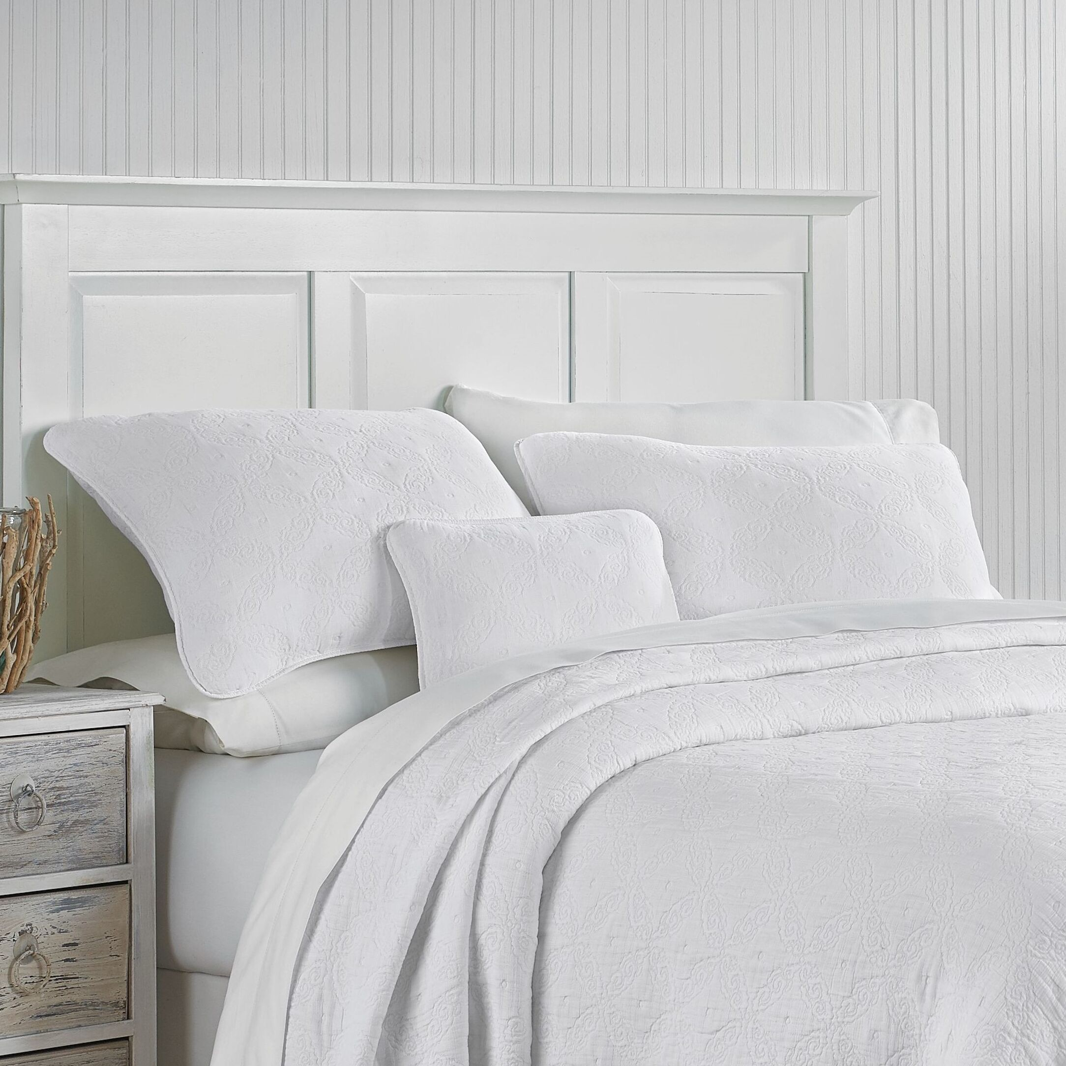 Whitney Sham Size: Standard, Color: White