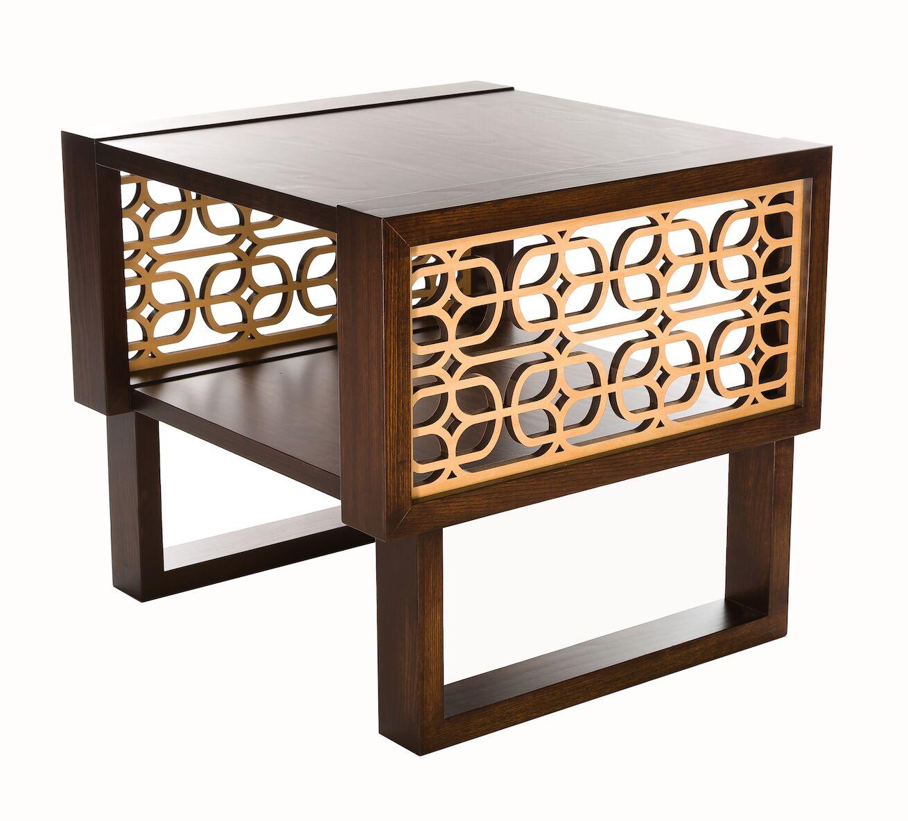 Herren Grille End Table Table Top Color: Espresso, Table Base Color: Espresso/Natural