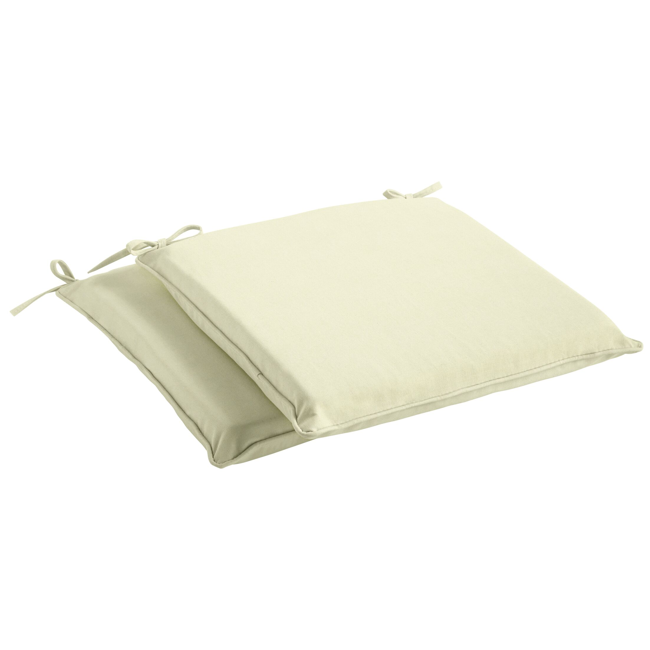 Indoor/Outdoor Sunbrella Dining Chair Cushion Size: 2