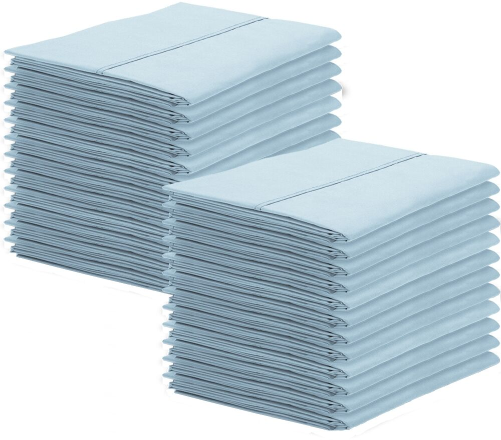 Galante Pillowcase Color: Light Blue, Size: Standard