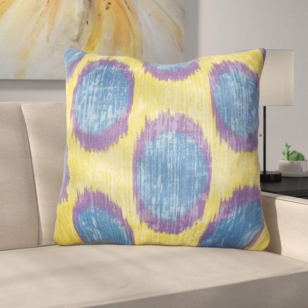 Heaton Ikat Floor Pillow Color: Purple Sage