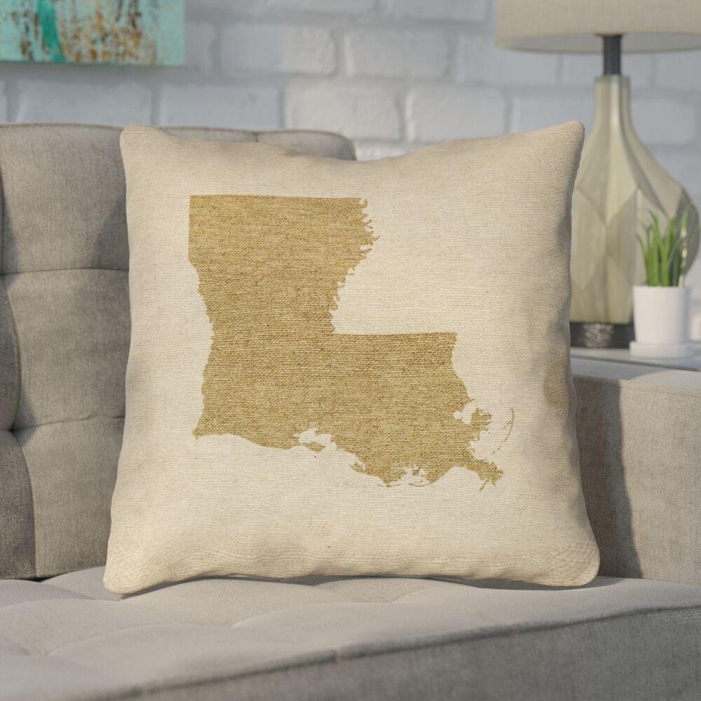 Austrinus Louisiana Throw Pillow Size: 26