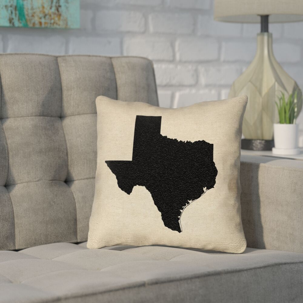 Sherilyn Texas Throw Pillow Size: 18