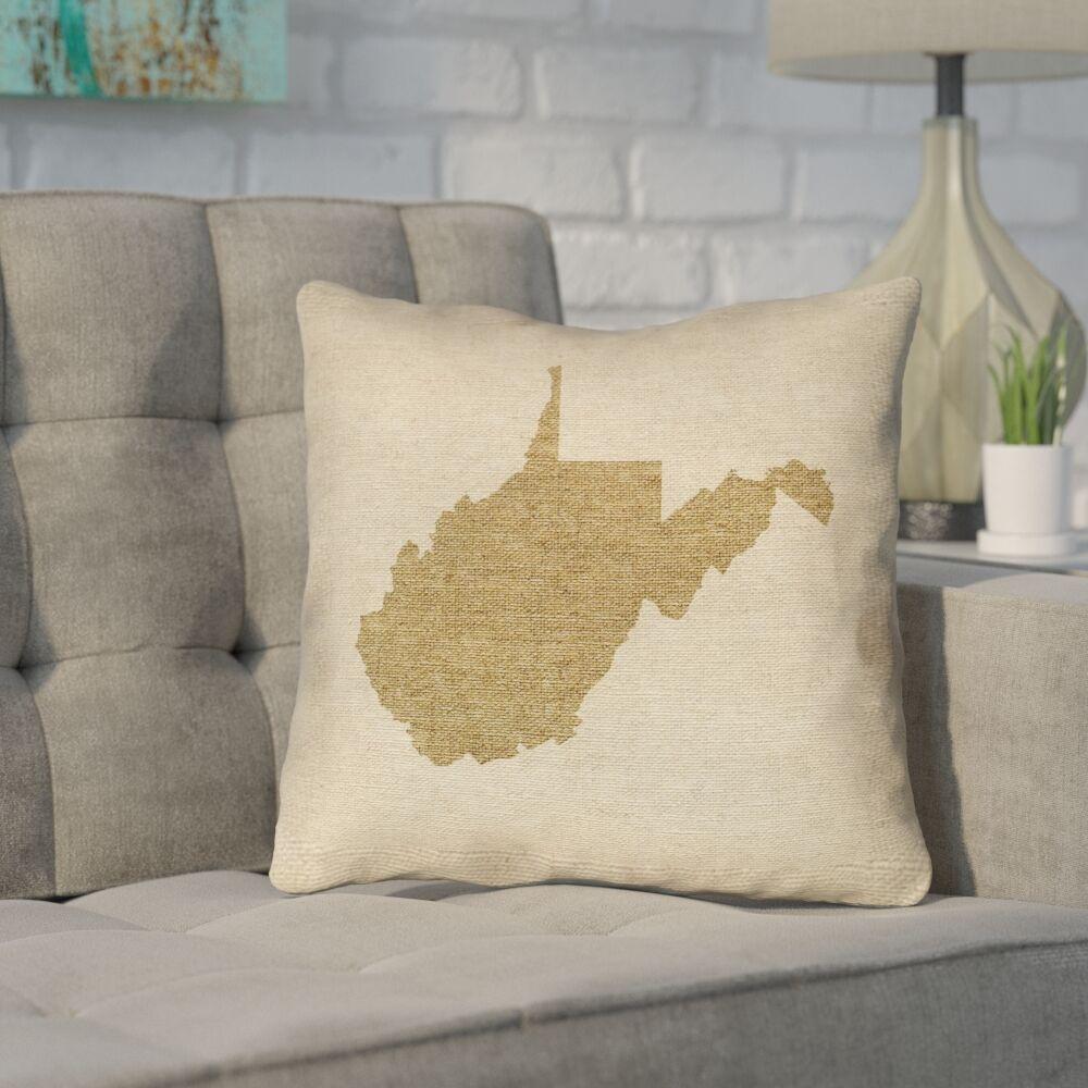 Sherilyn Vermont Throw Pillow Size: 16