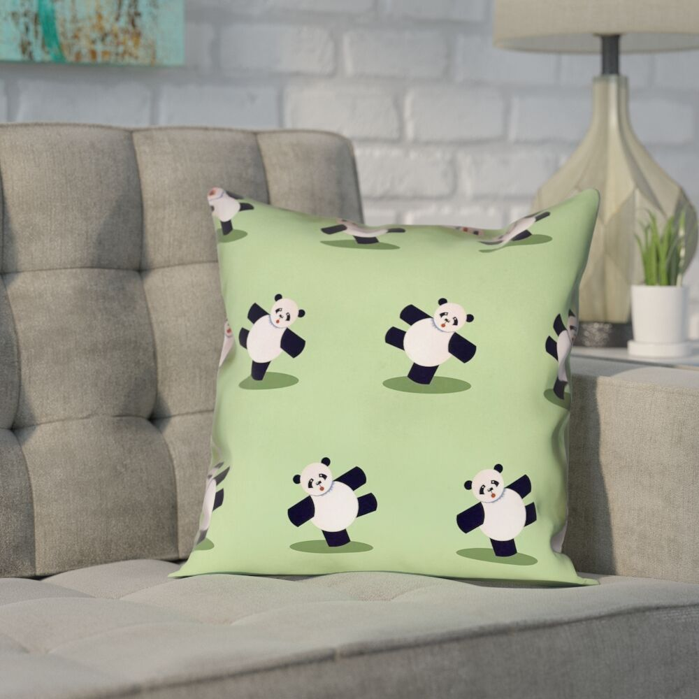 Pecora Panda Outdoor Throw Pillow Size: 16