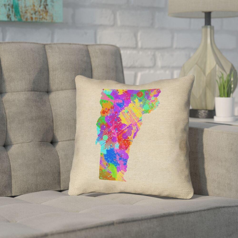 Sherilyn Vermont Throw Pillow Size: 20