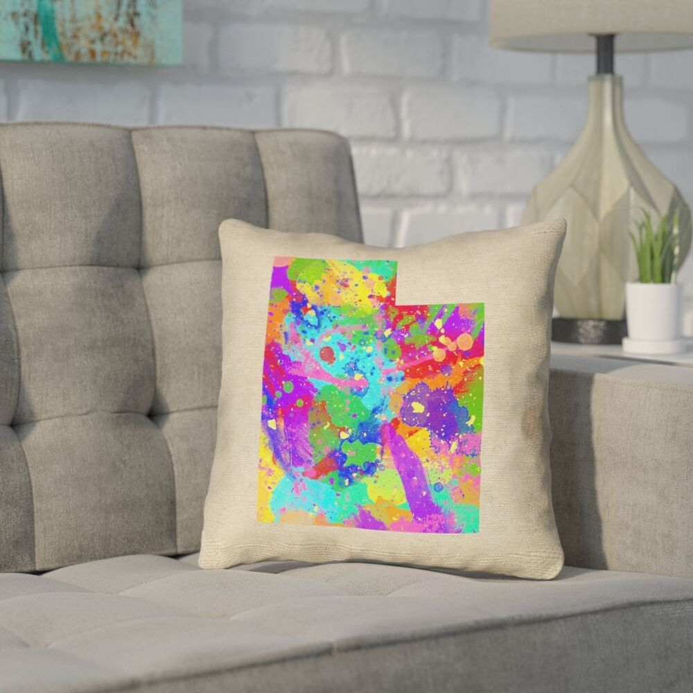 Sherilyn Utah Double Sided Print Pillow Cover Size: 18