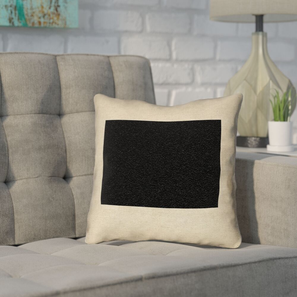Sherilyn Wyoming Throw Pillow Color: Black, Size: 36