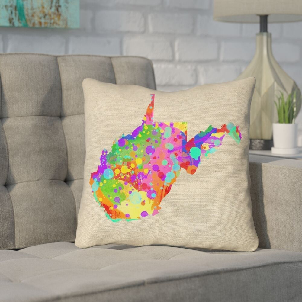 Sherilyn West Virginia Throw Pillow Size: 18