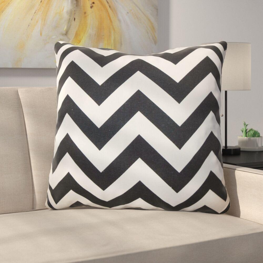 Burd Zigzag Floor Pillow Color: Black