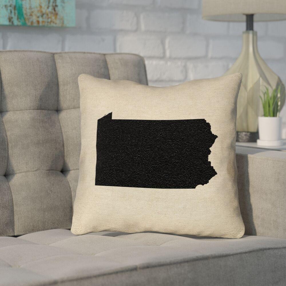 Sherilyn Pennsylvania Throw Pillow Size: 20