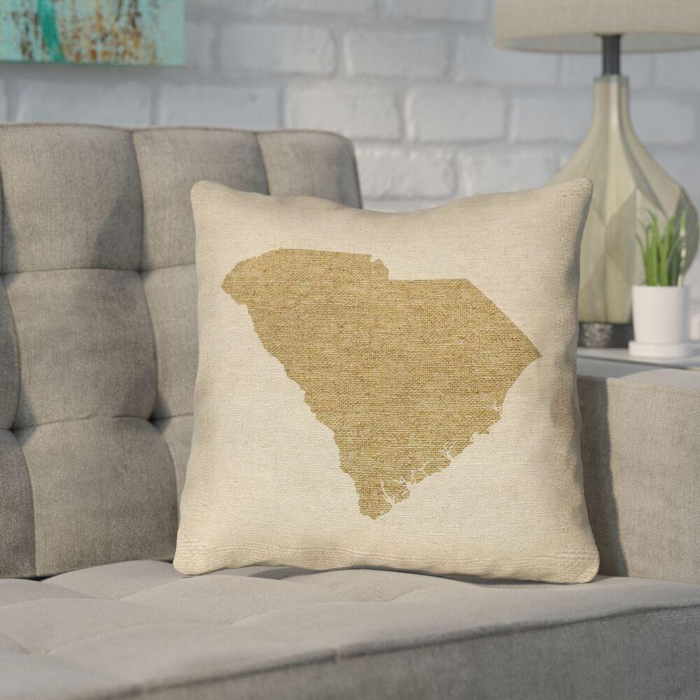 Sherilyn South Carolina Outdoor Throw Pillow Size: 20