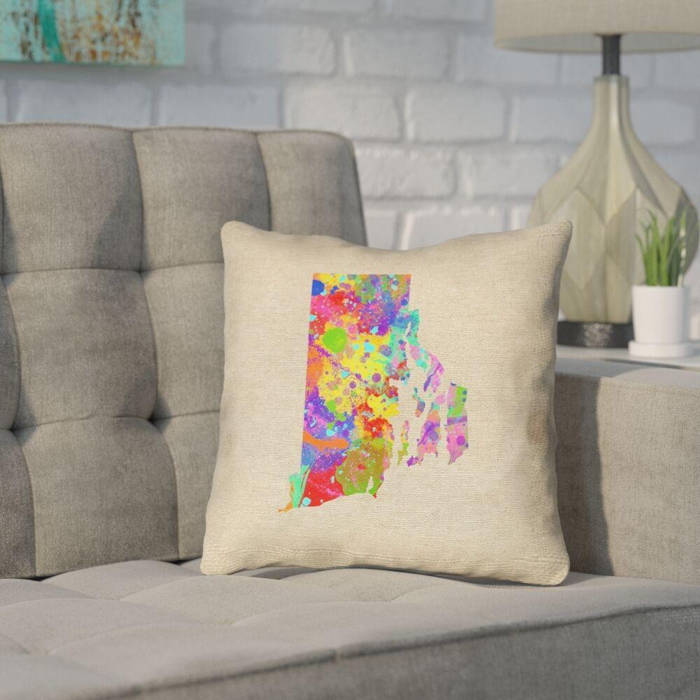Sherilyn Rhode Island Throw Pillow Size: 20