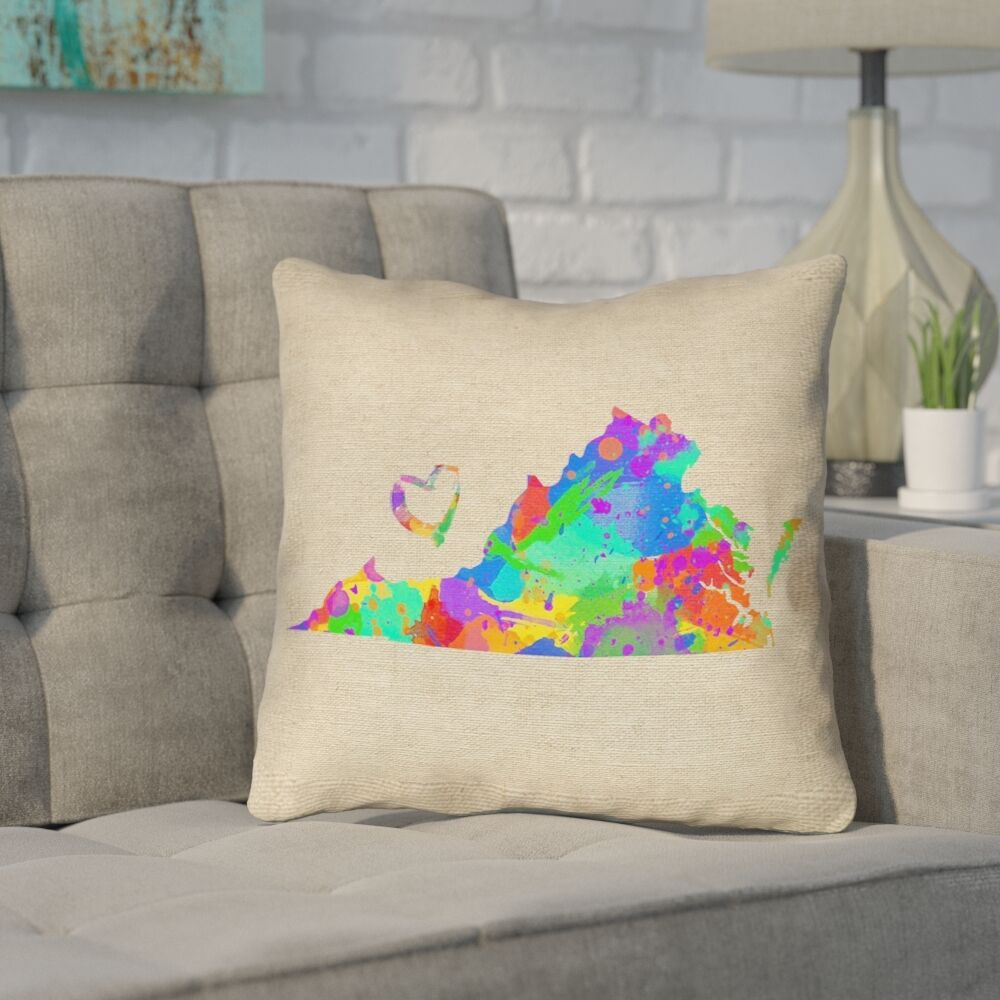 Sherilyn Virginia Love Outdoor Throw Pillow Size: 20