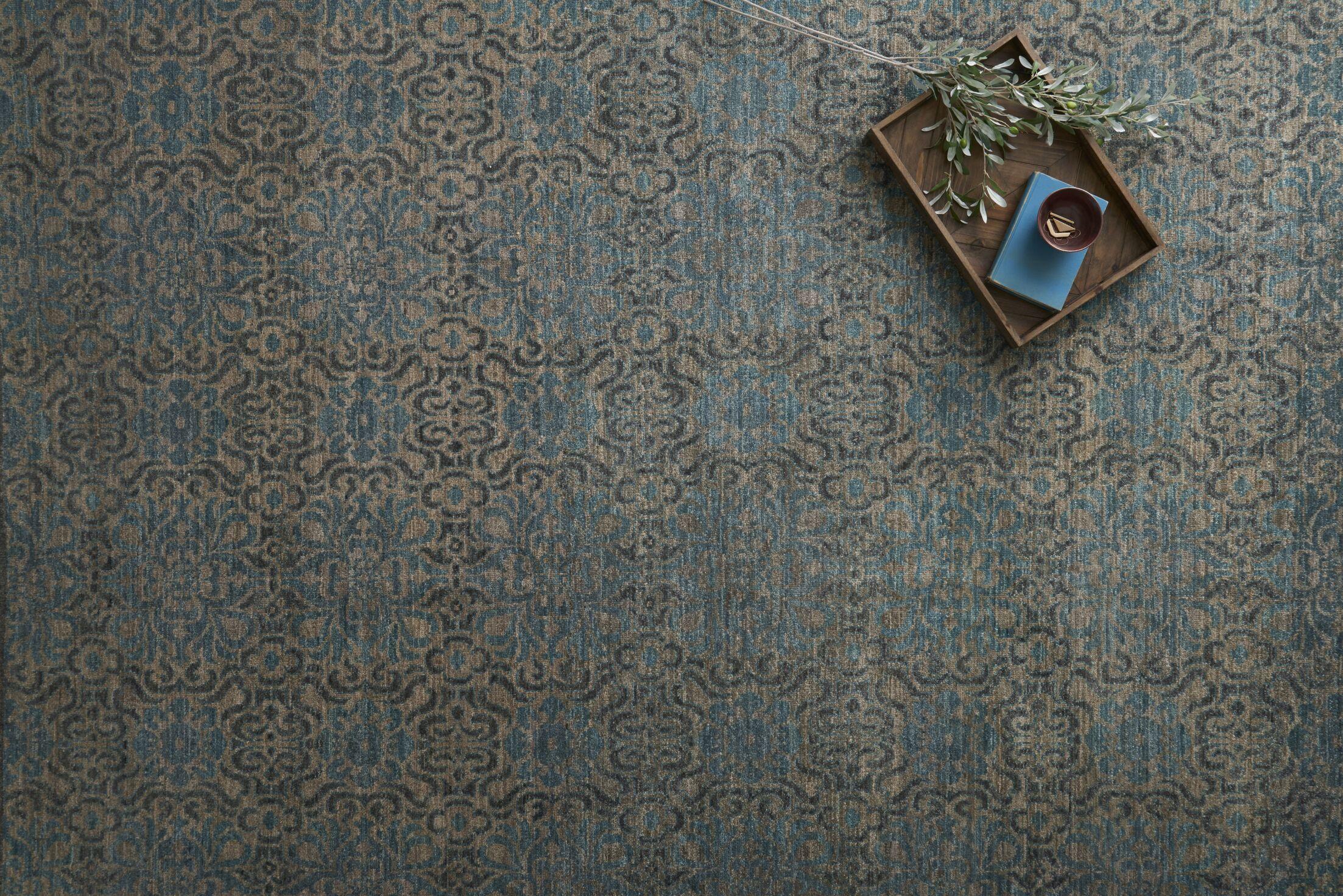 Claussen Hand Woven Wool Brown/Blue Area Rug Rug Size: Runner 2'6