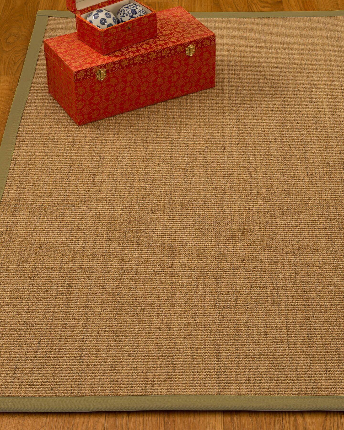 Kimberlin Hand-Woven Beige Area Rug Rug Size: Rectangle 6' x 9'