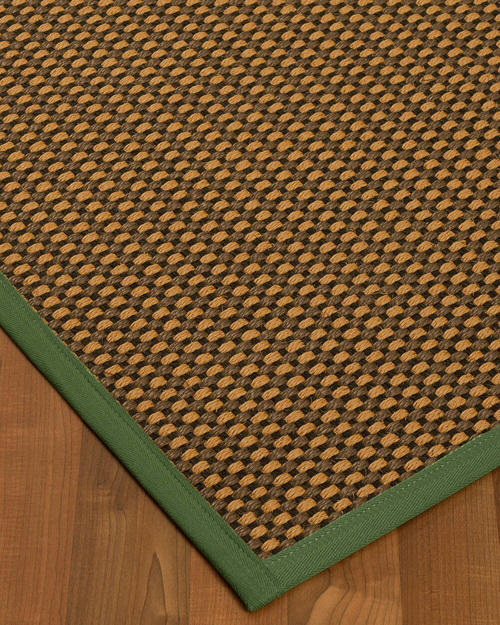 Kimbrel Hand-Woven Brown Area Rug Rug Size: Rectangle 12' x 15'