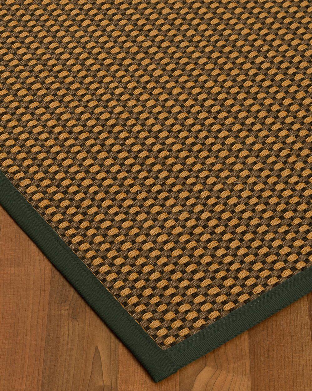 Kimbrel Hand-Woven Brown Area Rug Rug Size: Rectangle 5' x 8'