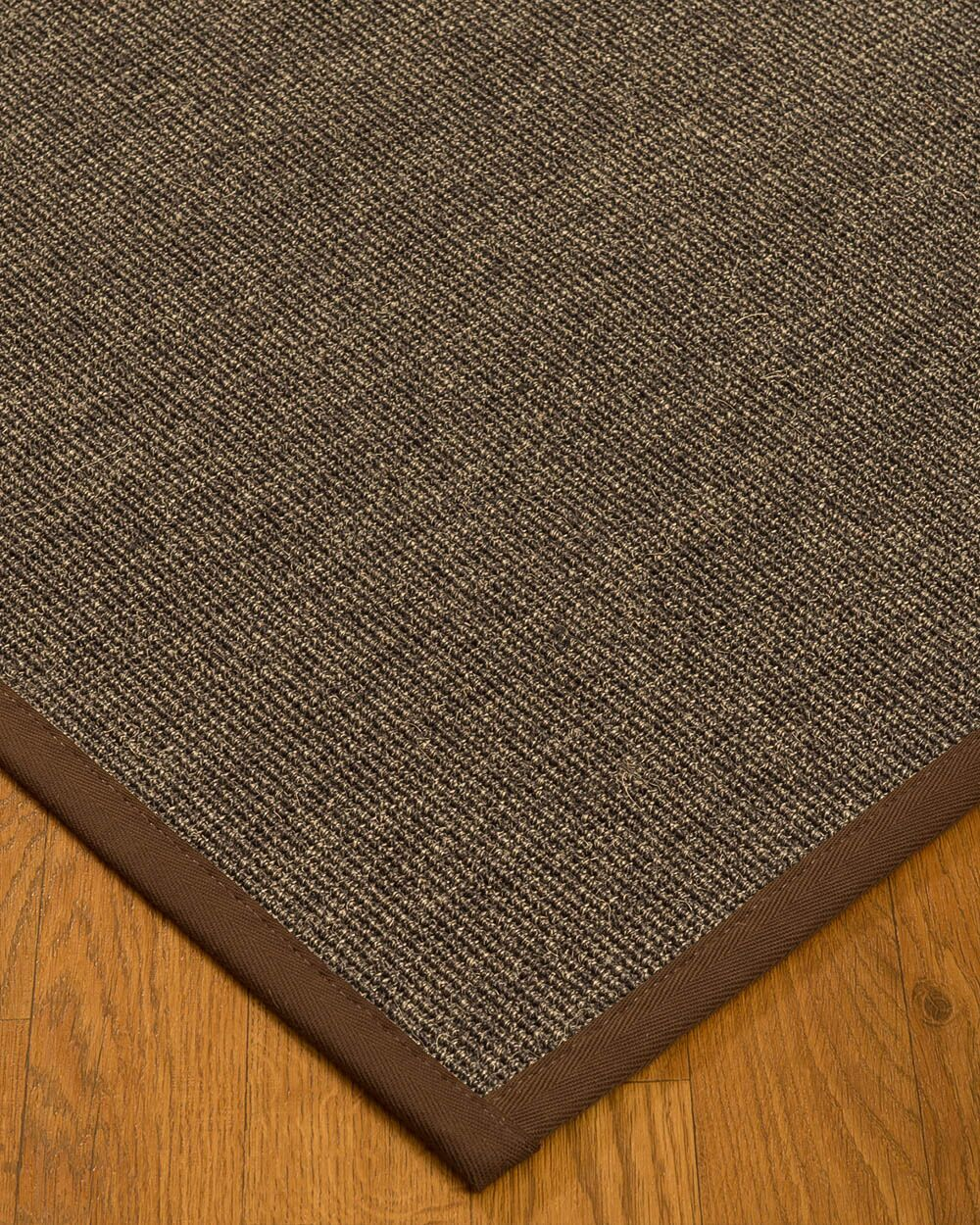 Bafford Hand-Woven Black Area Rug Rug Size: Rectangle 5' x 8'