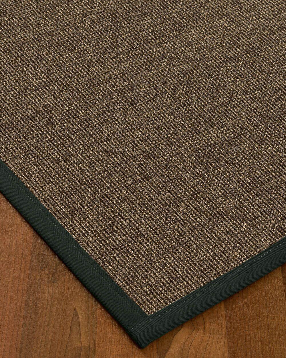 Bafford Hand-Woven Black Area Rug Rug Size: Rectangle 12' x 15'