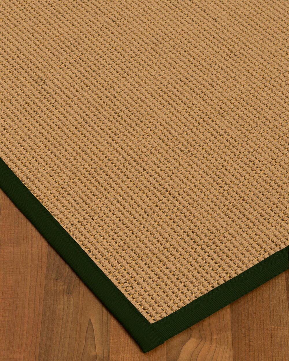 Badham Hand-Woven Wool Beige Area Rug Rug Size: Rectangle 9' x 12'