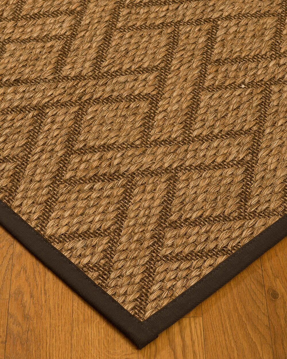 Kimbro Hand-Woven Beige/Fudge Area Rug Rug Size: Rectangle 4' x 6'