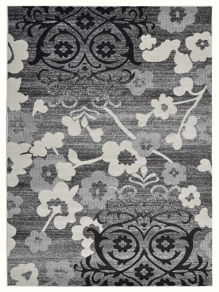 Tullos Silver/Gray Area Rug Rug Size: Rectangle 9' x 12'