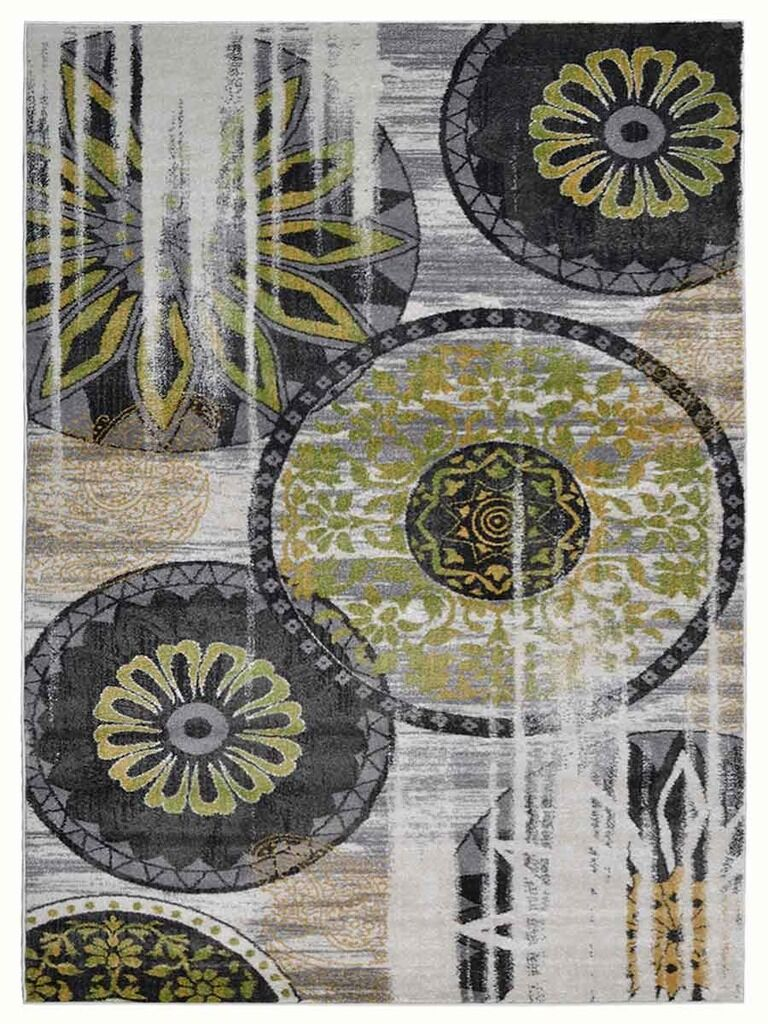 Hassen Black/Green Area Rug Rug Size: Rectangle 8' x 10'