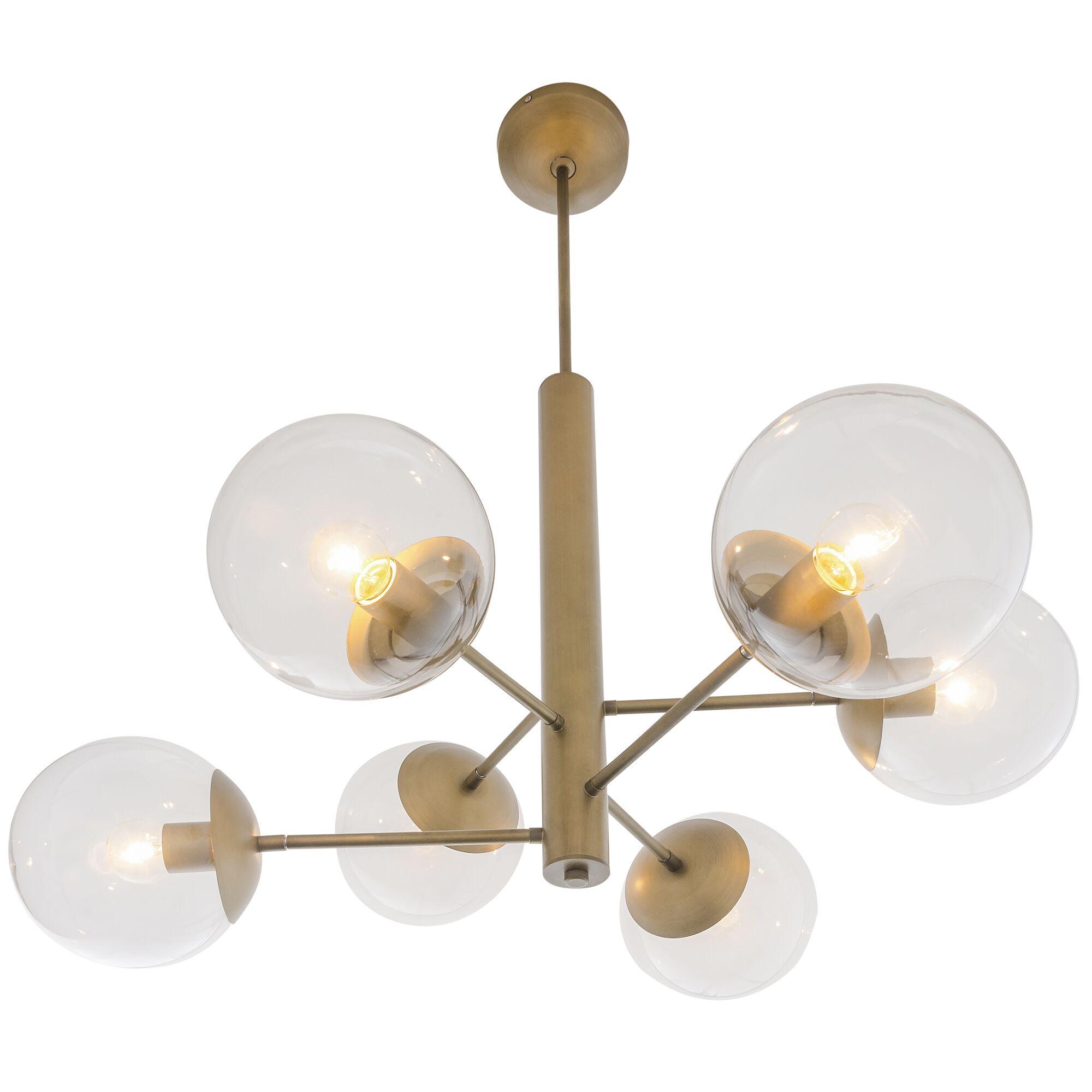 Citium Mid Century 6-Light Chandelier