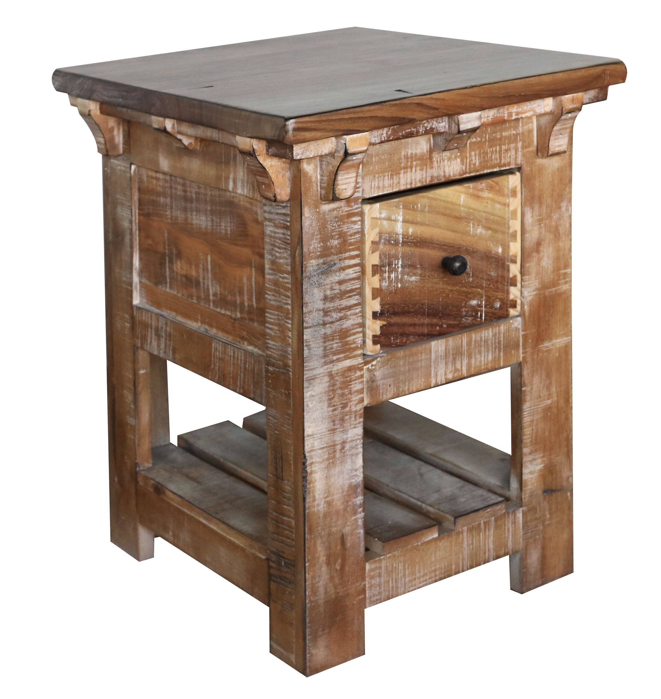 1 Drawer End Table Size: 120