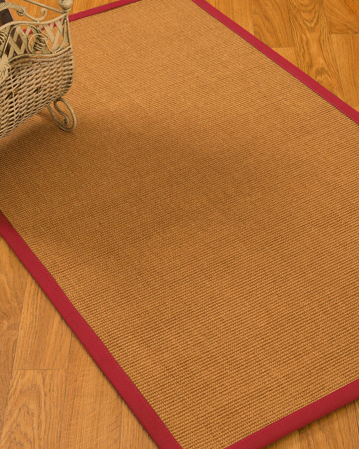 Kemmer Border Hand-Woven Brown/Red Area Rug Rug Size: Rectangle 5' x 8'