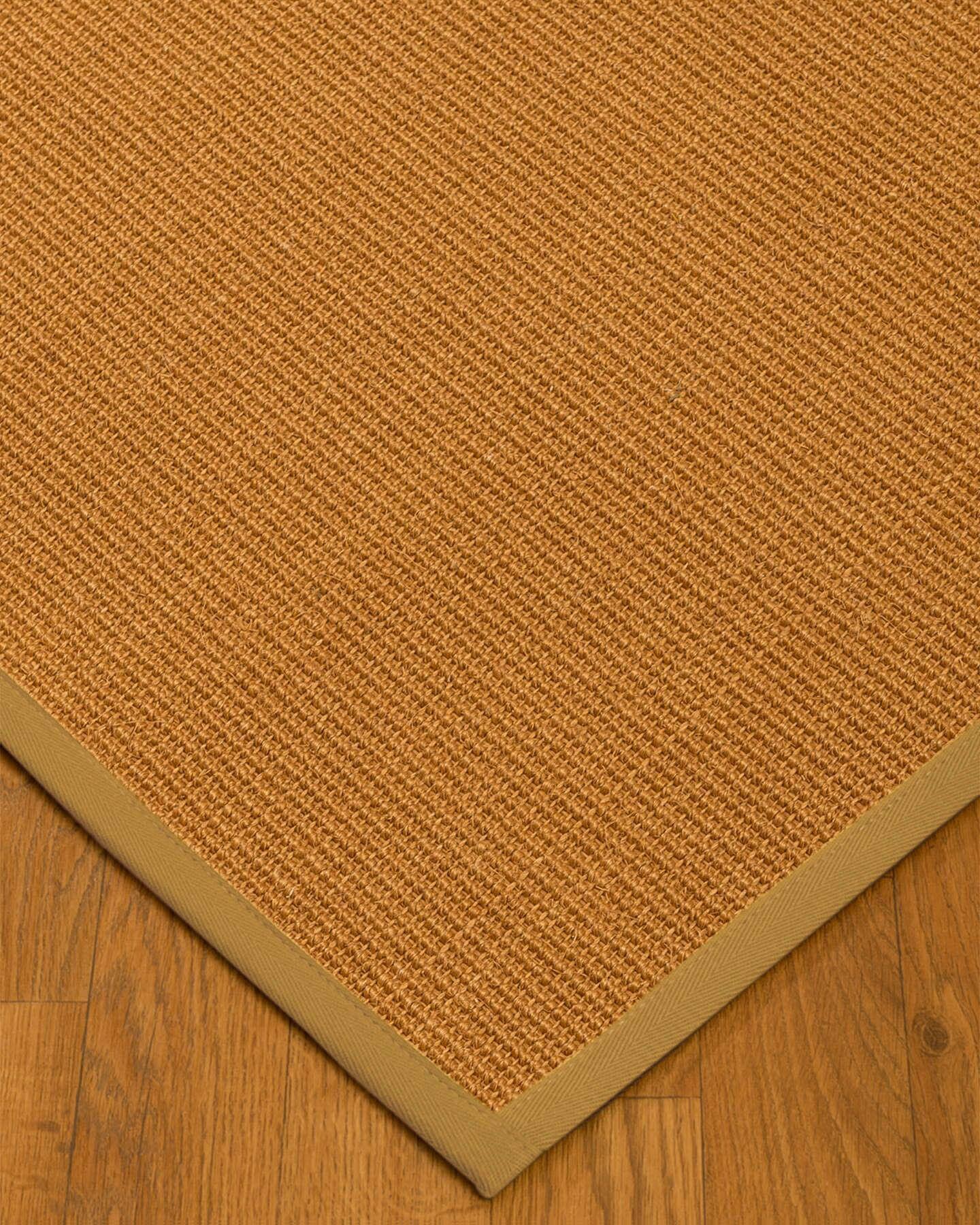 Kemmerer Border Hand-Woven Brown/Sage Area Rug Rug Size: Rectangle 4' x 6'