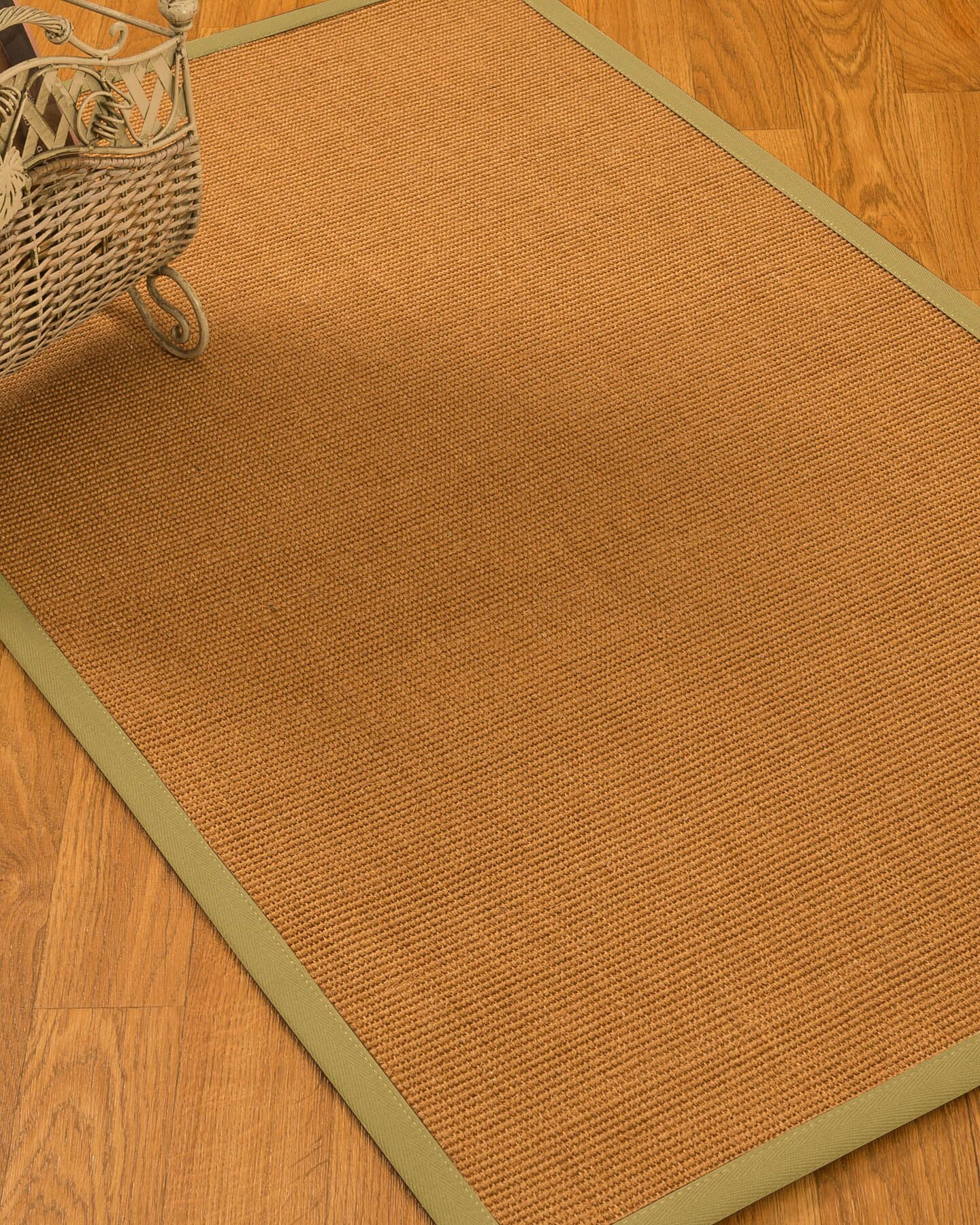 Kemper Border Hand-Woven Brown/Olive Area Rug Rug Size: Rectangle 8' x 10'
