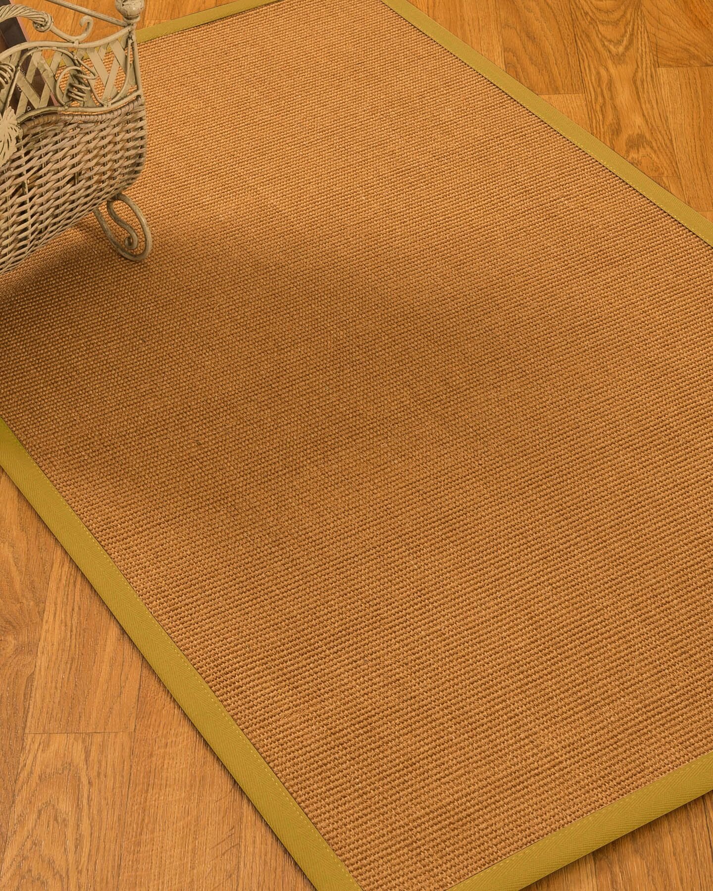 Kendari Border Hand-Woven Brown Area Rug Rug Size: Rectangle 3' x 5'
