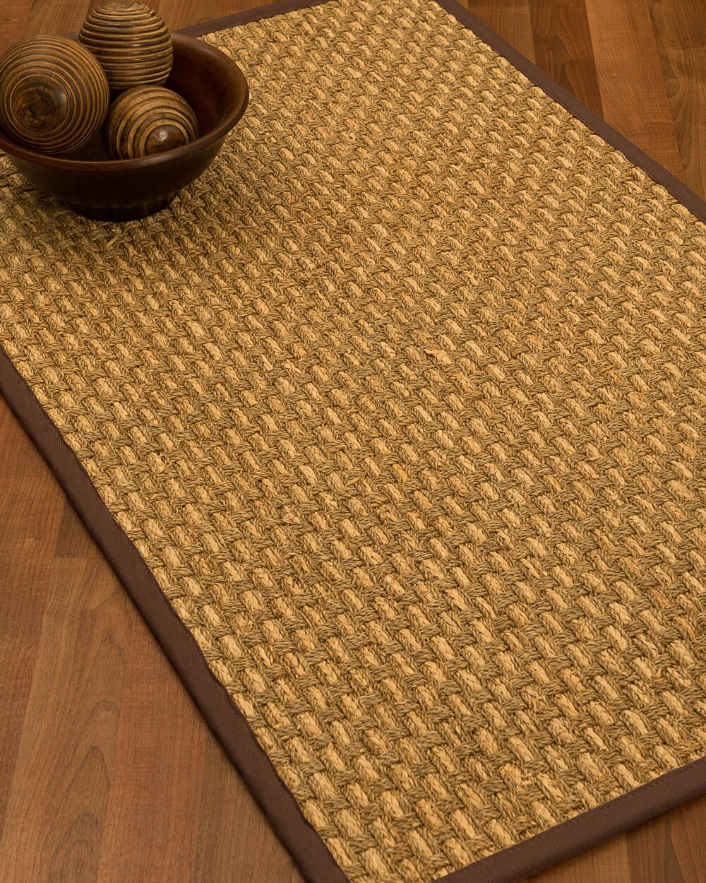 Castiglia Border Hand-Woven Beige/Brown Area Rug Rug Size: Rectangle 12' x 15', Rug Pad Included: Yes