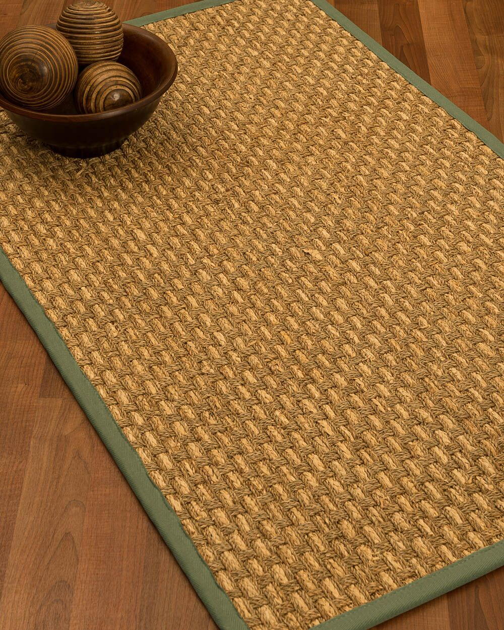 Castiglia Border Hand-Woven Beige/Slate Area Rug Rug Size: Rectangle 4' x 6', Rug Pad Included: Yes