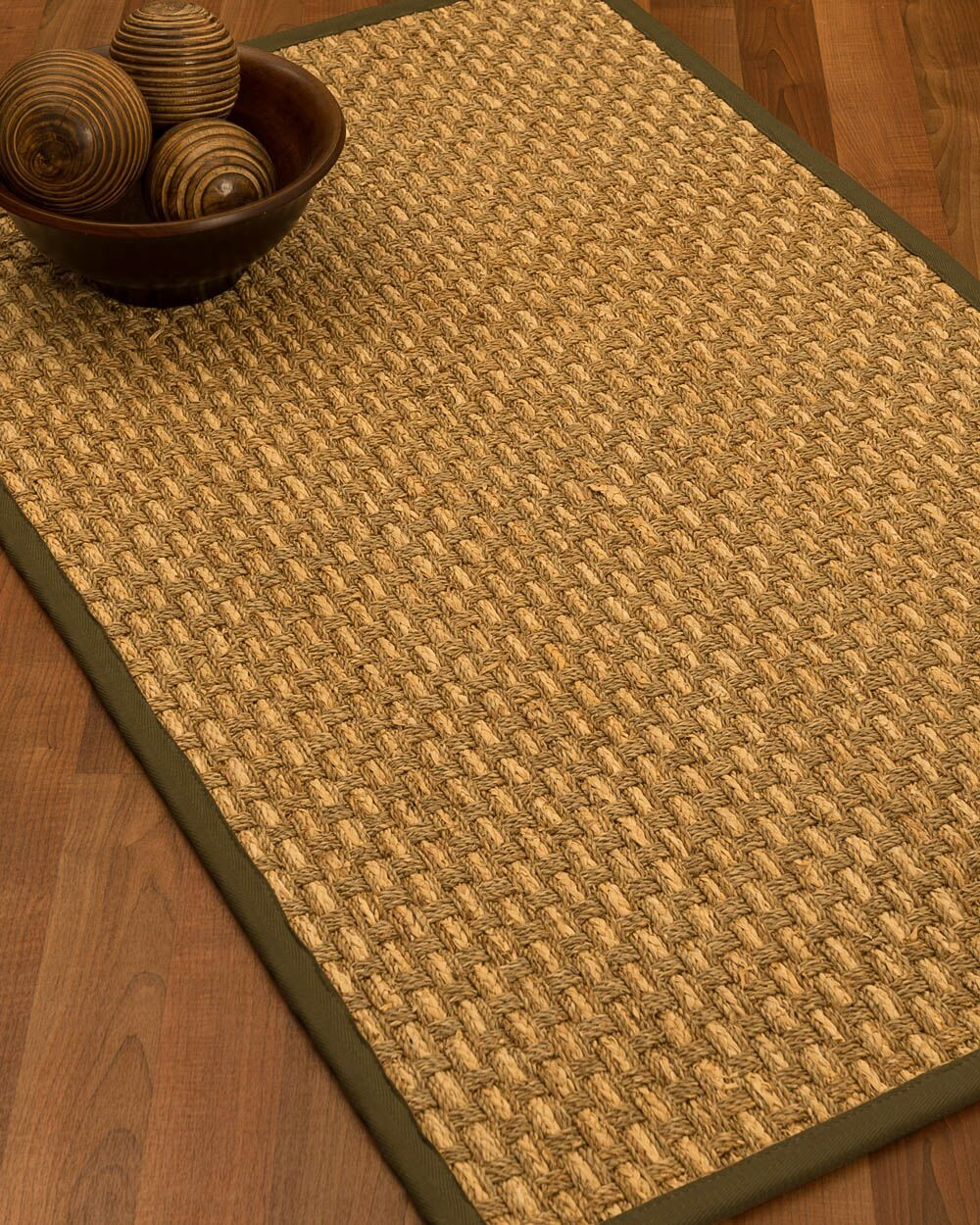Castiglia Border Hand-Woven Beige/Malt Area Rug Rug Size: Rectangle 5' x 8', Rug Pad Included: Yes