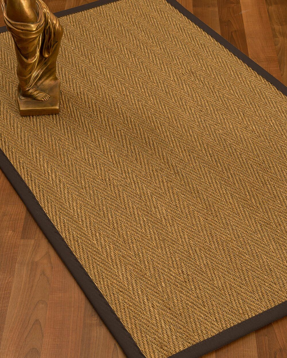 Mahaney Border Hand-Woven Beige/Brown Area Rug Rug Size: Rectangle 8' x 10', Rug Pad Included: Yes