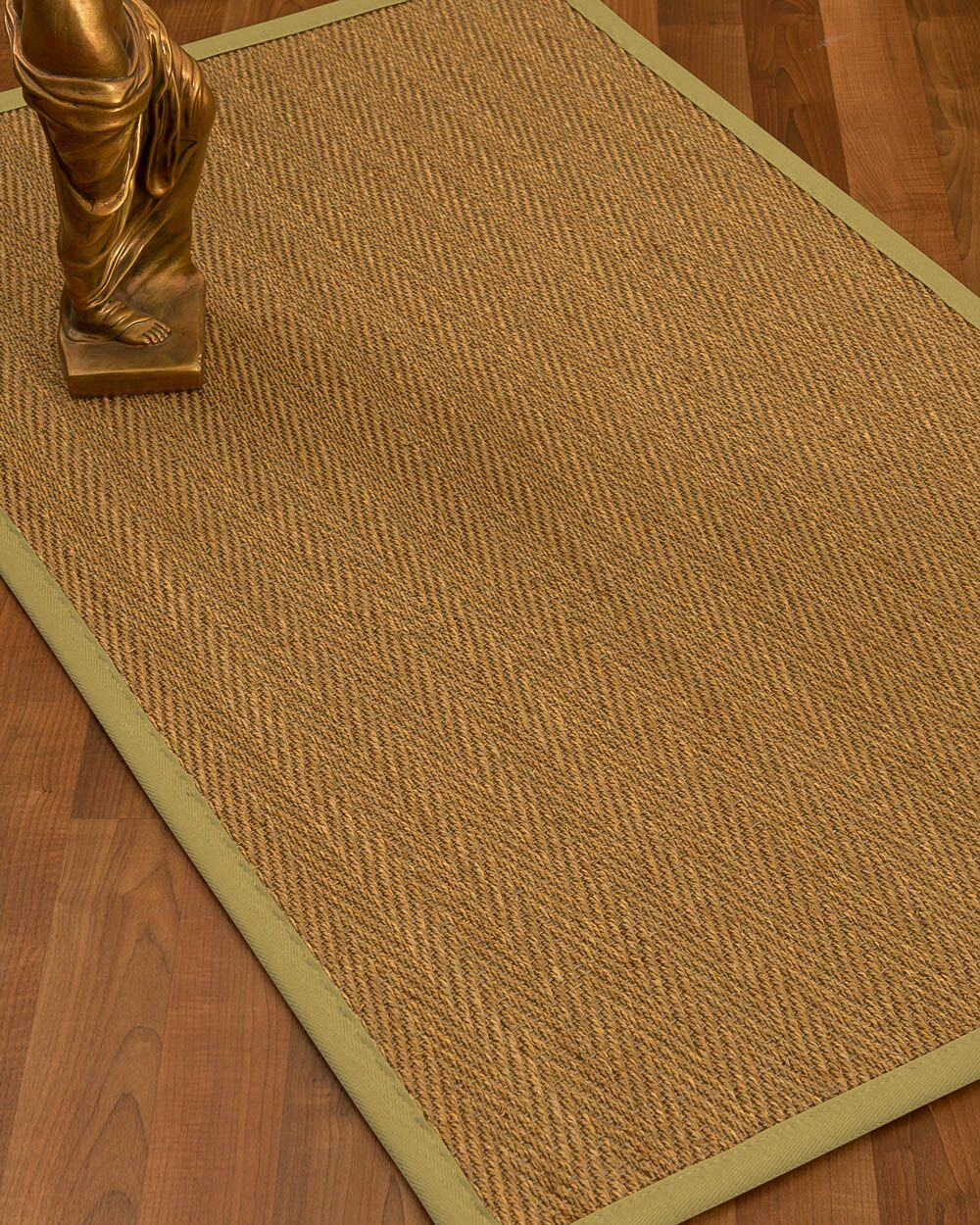Kenner Border Hand-Woven Brown/Khaki Area Rug Rug Size: Rectangle 6' x 9', Rug Pad Included: Yes