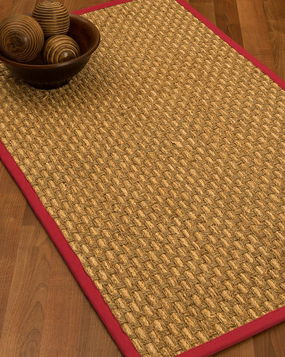 Castiglia Border Hand-Woven Beige/Red Area Rug Rug Size: Rectangle 6' x 9', Rug Pad Included: Yes
