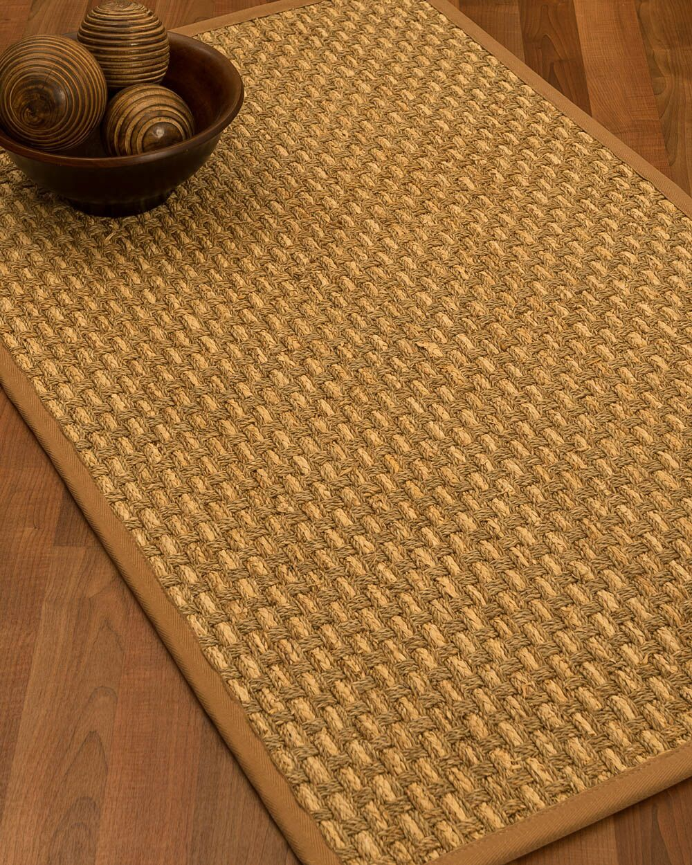 Castiglia Border Hand-Woven Beige/Sienna Area Rug Rug Pad Included: No, Rug Size: Rectangle 3' x 5'