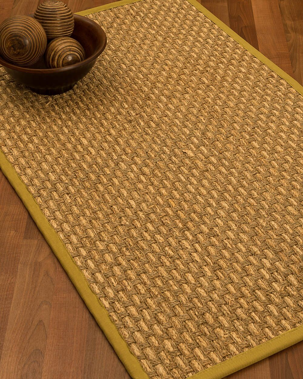 Castiglia Border Hand-Woven Beige/Tan Area Rug Rug Pad Included: No, Rug Size: Rectangle 3' x 5'