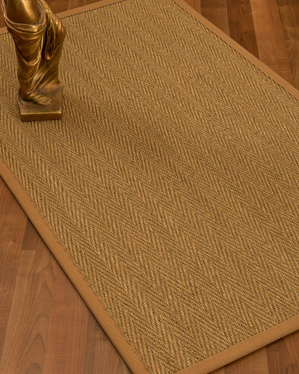 Mahaney Border Hand-Woven Beige/Sienna Area Rug Rug Size: Rectangle 8' x 10', Rug Pad Included: Yes