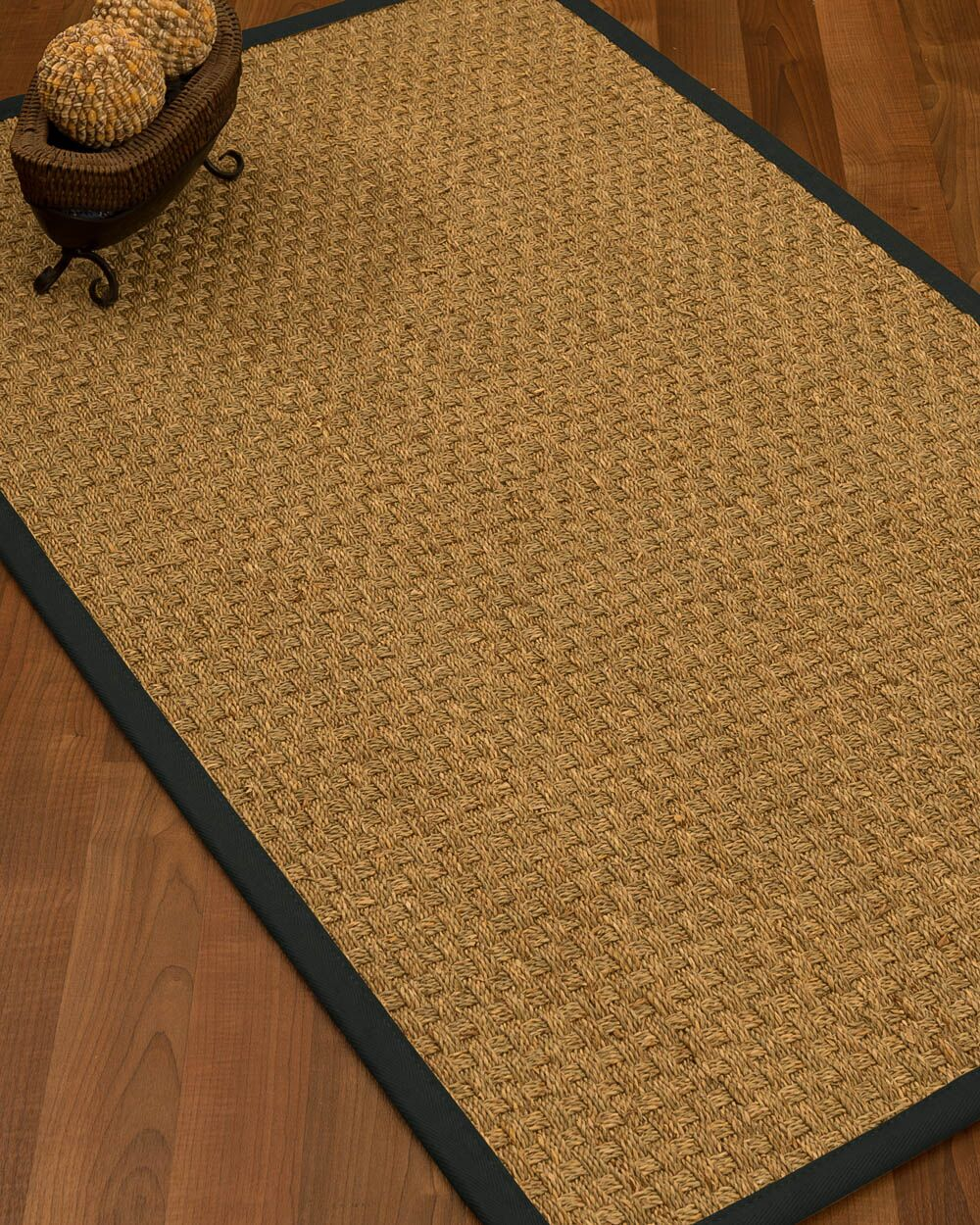 Antiqua Border Hand-Woven Beige/Onyx Area Rug Rug Pad Included: No, Rug Size: Runner 2'6
