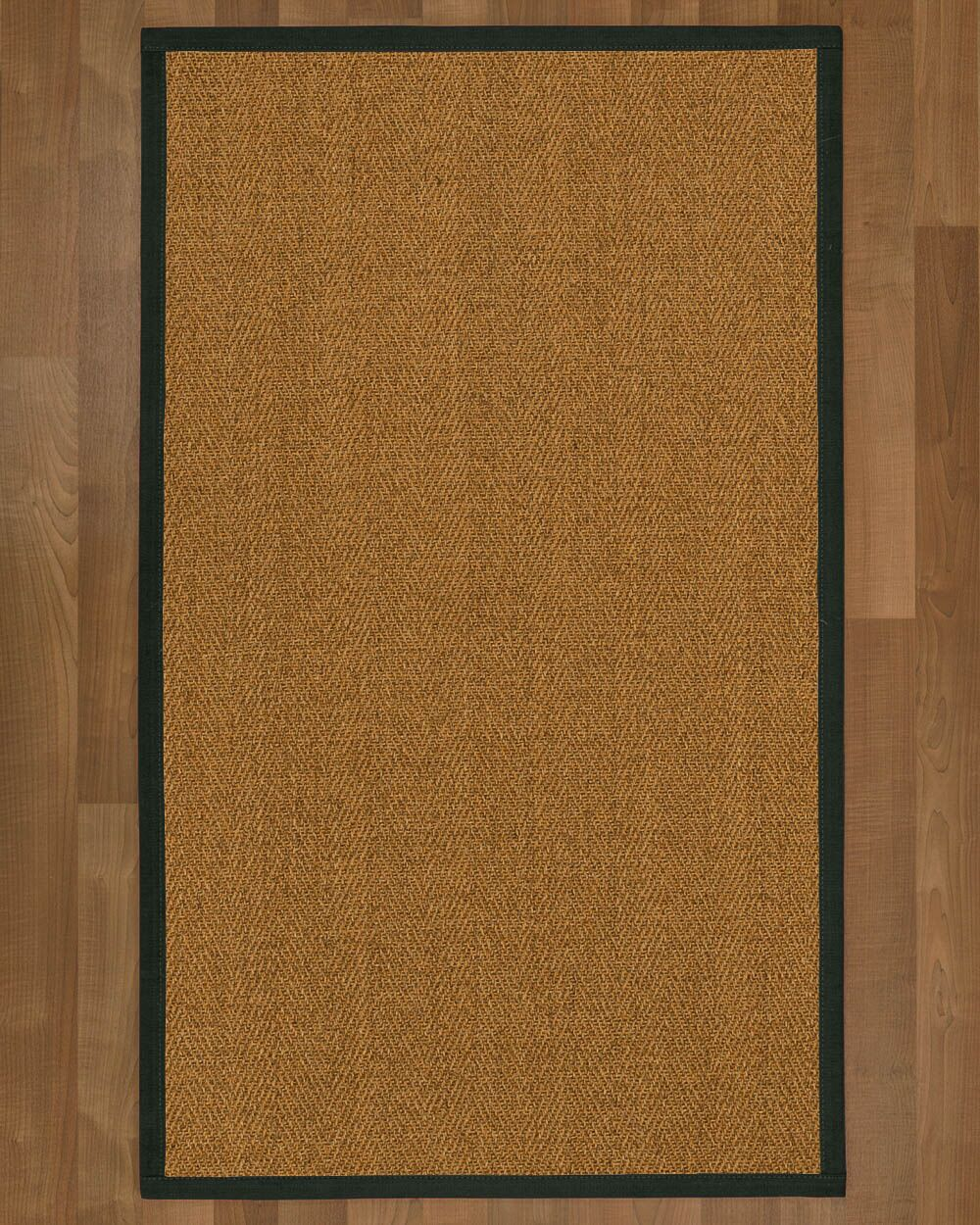 Asmund Border Hand-Woven Brown/Metal Area Rug Rug Size: Rectangle 5' x 8', Rug Pad Included: Yes