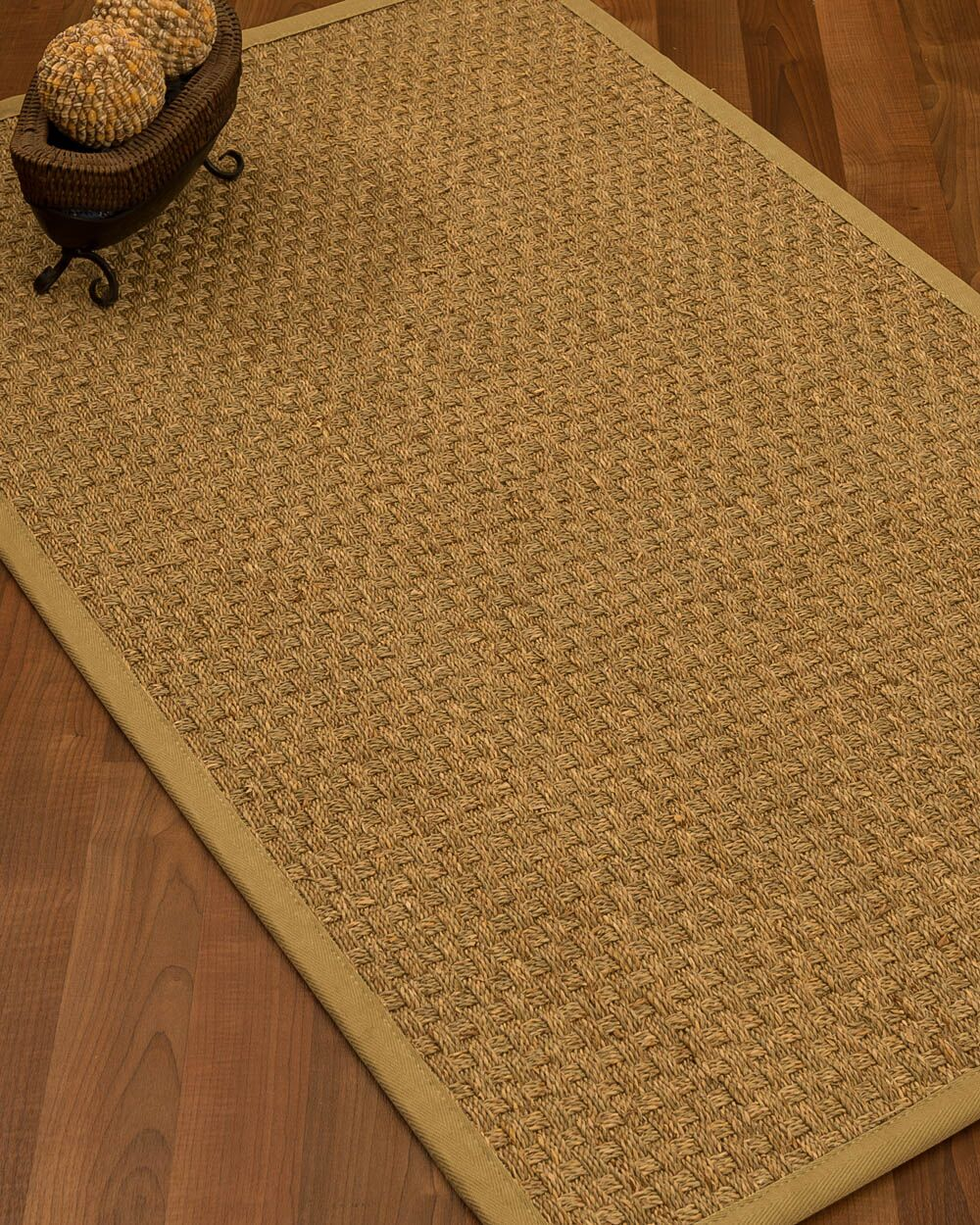 Antiqua Border Hand-Woven Beige/Sage Area Rug Rug Size: Rectangle 8' x 10', Rug Pad Included: Yes